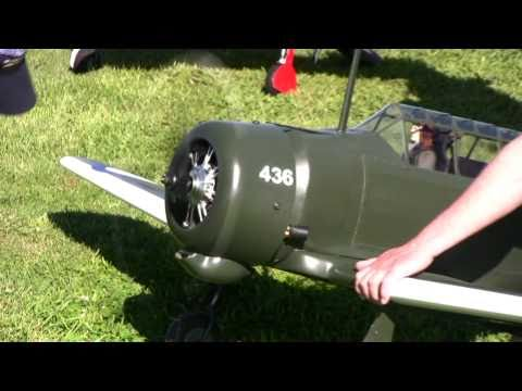 A OS 7 Cylinder radial engine mounted on Wirraway and Zero