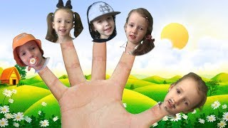 Finger Family Song by Ulya Funny Baby Pretend Play and Learning the Name of Fingers