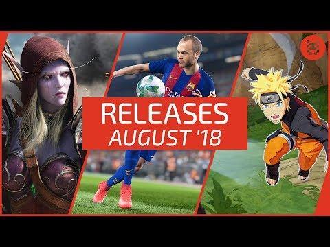 Neue SPIELE im AUGUST 2018 für PS4, Xbox One, PC & Nintendo Switch