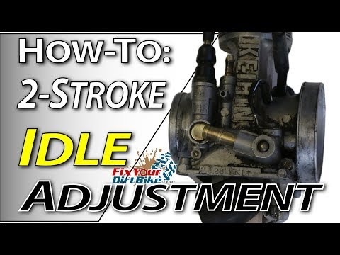 2-stroke Carb Tuning - Idle Adjustment   Fix Your Dirt Bike.com