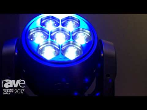 ISE 2017: ADJ Displays Vizi Hex Wash 7 Moving Head Wash Light Fixture