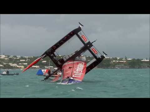 Team New Zealand Capsize At America's Cup, June 6 2017