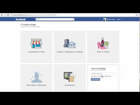 How To Create A Facebook Business Page - Fan Page