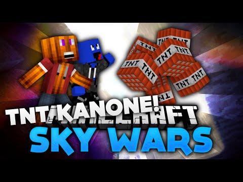 TnT Kanonen Action! - Minecraft Sky Wars! | DieBuddiesZocken