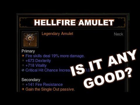 Diablo 3 RoS: The Hellfire Amulet - Is it Any Good? (Patch 2.1.0 PTR)