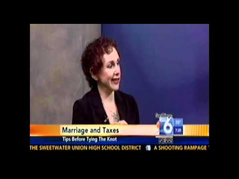 Marriage and Taxes with Myra Fleischer on San Diego 6 Morning News