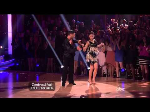 Zendaya Coleman and Val Chmerkovskiy - Cha Cha-Week 6-(Stevie Wonder Night)