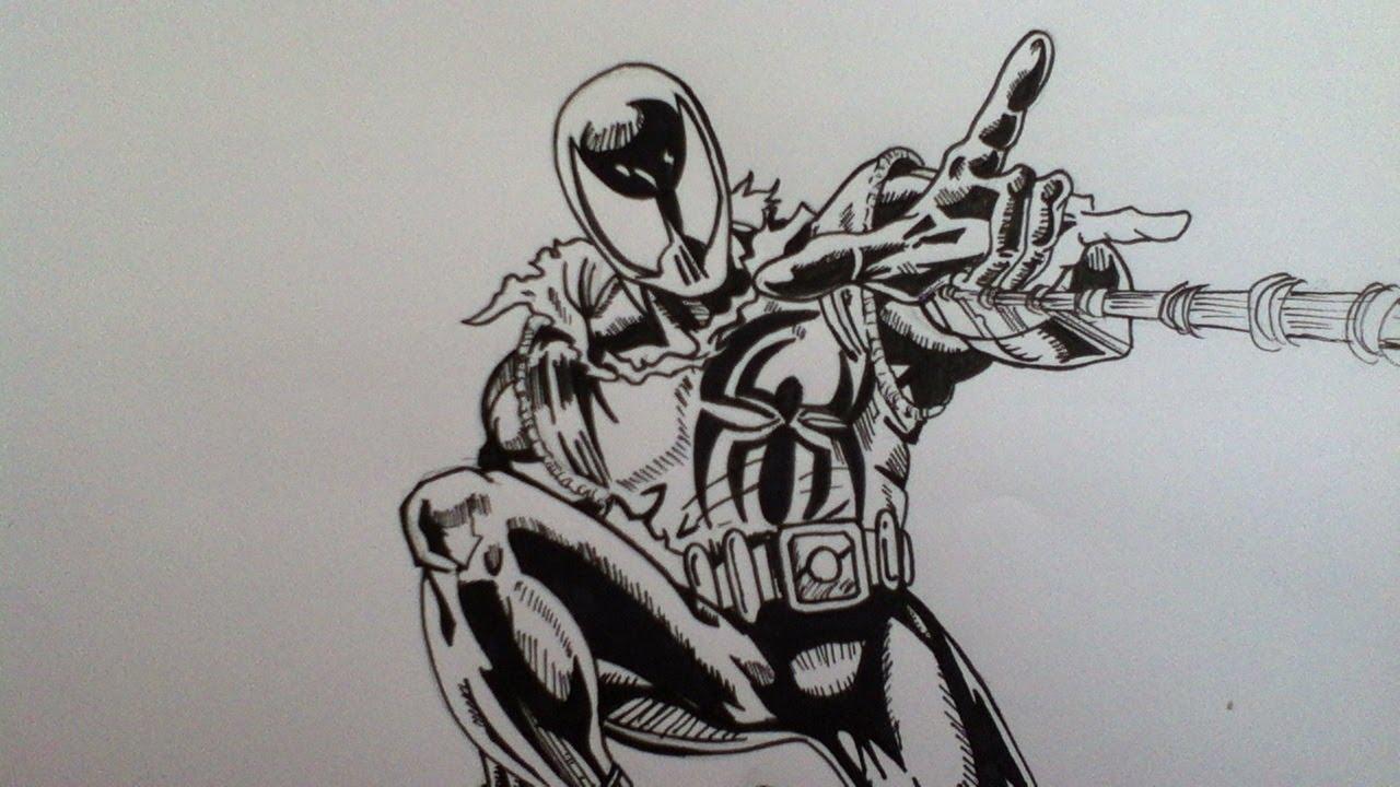Spiderman 3 Drawings Drawing Scarlet Spiderman