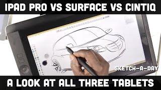 iPad Pro vs. Surface Pro vs. Wacom Cintiq Companion - a designer's comparison
