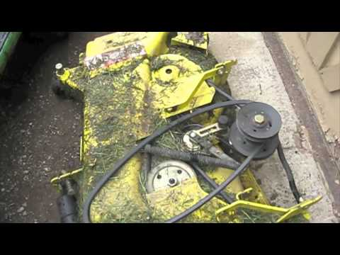 Watch together with Watch in addition T2859800 Changing belt john deere model stx 46 together with John Deere Rear Bagger Hopper Chute Power Flow BM21376 besides Murray 12 5 Riding Lawn Mower 399097. on john deere mower belt diagram