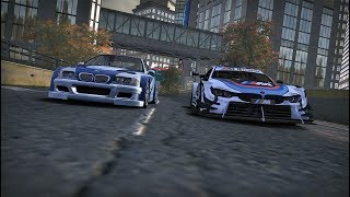 Bmw M3 GTR vs Bmw M4 DTM (Final Races - NFS MW)