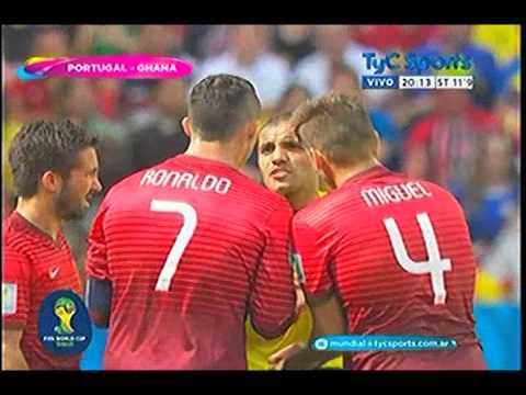 Ghana 1 Portugal 2 Mundial 2014 Grupo G 26-6-14