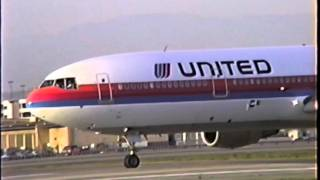 United DC-10-30 Rockets Out of LAX (Great Sound)