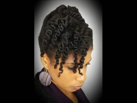 #4 Natural Hair 10-minute Cornrow and Twist Updo (Protective Style)