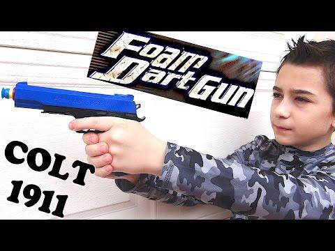 Colt .45 1911 Foam Dart Gun with Robert-Andre! / Colt .45 ACP