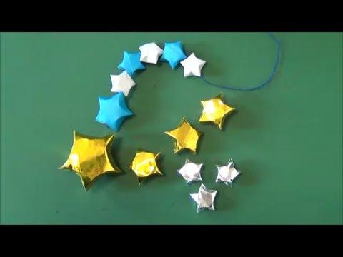 七夕・クリスマスに。「星の ... : 七夕飾り 折り方 : 七夕