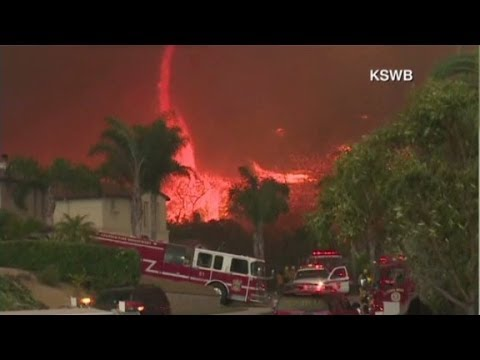 Wildfires rage throughout southern California