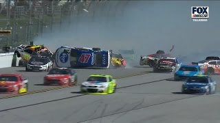 Monster Energy NASCAR Cup Series 2017. Talladega Superspeedway. Big One & Red Flag (All Angles)
