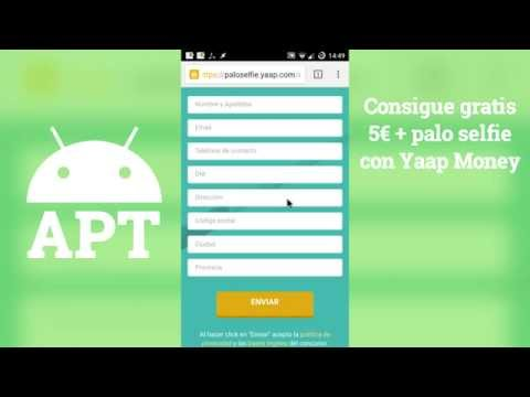 Consigue gratis 5€ + palo selfie con Yaap Money - [AndroidParaTorpes]