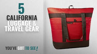 Top 10 California Luggage & Travel Gear [2018]: Rachael Ray Jumbo ChillOut Thermal Tote, Red