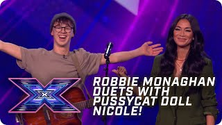 Robbie duets with Nicole on Pussycat Dolls' 'Don't Cha' | X Factor: The Band | Arena Auditions