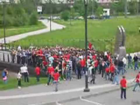 Zenit - Spartak Moskova Holiganların Sokak Kavgası