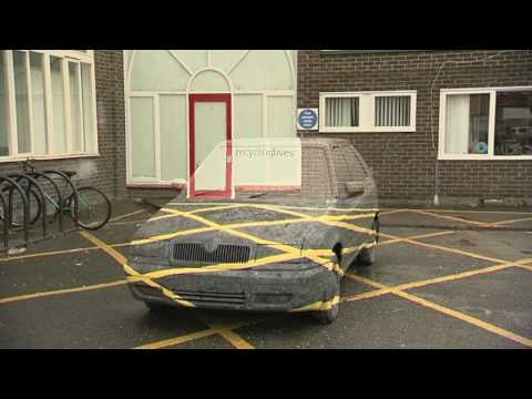 CarArt Car disappear/vanish Sarah Watson Art student Preston University BBC North West Tonight