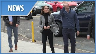 Kate Middleton dons a pair of skinny jeans following Meghan's lead