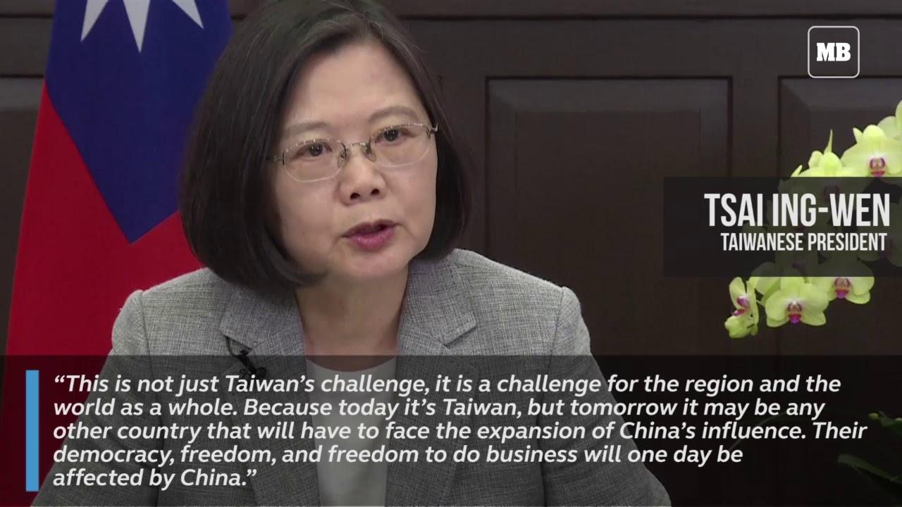Taiwan's Tsai urges world to stand up to China