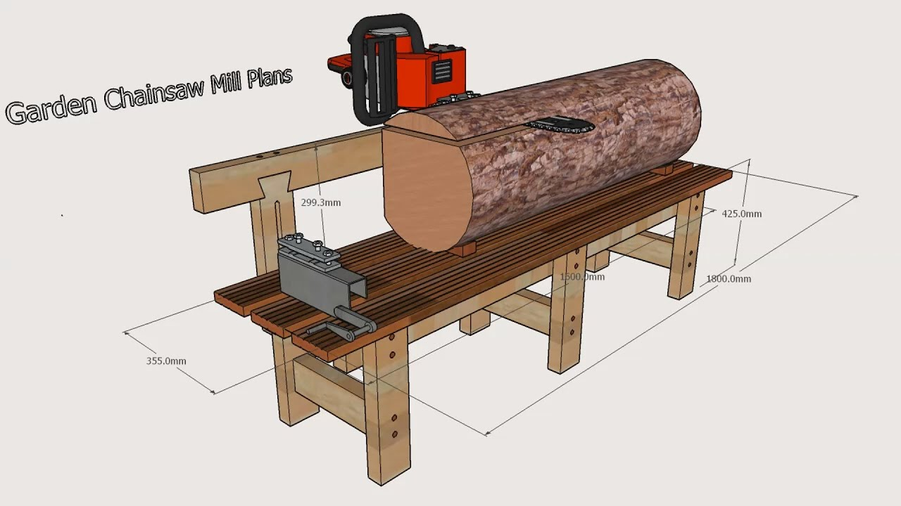 Garden Chainsaw Mill Plans