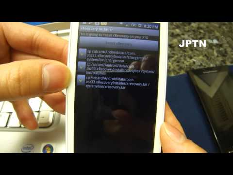 Installing xRecovery [OBSOLETE] & Custom ROMs on an Xperia X10