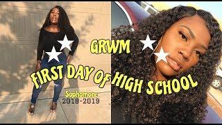GRWM: FIRST DAY OF HIGH SCHOOL *SOPHOMORE* 2018-2019