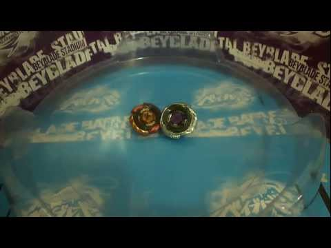 Beyblade Metal Fusion / Fight : Mercury Anubis 85XF VS Diablo Nemesis X:D [HD]
