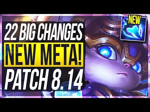 FIZZ REWORK & NEW BEST ADC! 22 BIG CHANGES & NEW OP CHAMPS Patch 8.14 - League of Legends