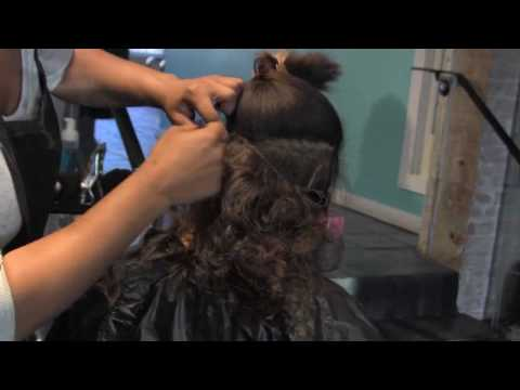 MicroLink Partial SEW-IN no braids/no glue/no string with Brazilian hair