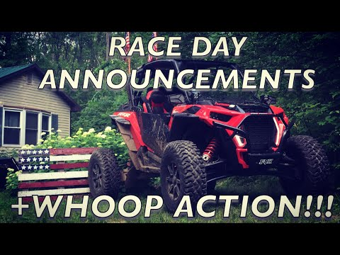 RZR Turbo S Hits The Whoops! Plus Race Day Announcements!