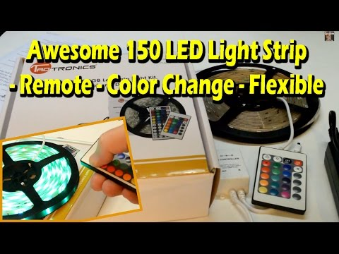 Awesome 150 LED Light Strip - Remote - Color Change - Flexible