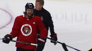 Karlsson still hasn't taken any contact, but will return Tuesday