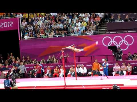 London Olympics 2012   filmed by me   Epke Zonderland on Mens Horizontal Bar   August 7 2012