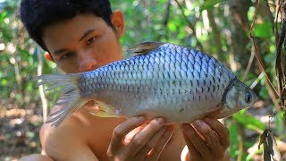 Cooking Fish Sour Soup Recipe In Forest Eating Delicious