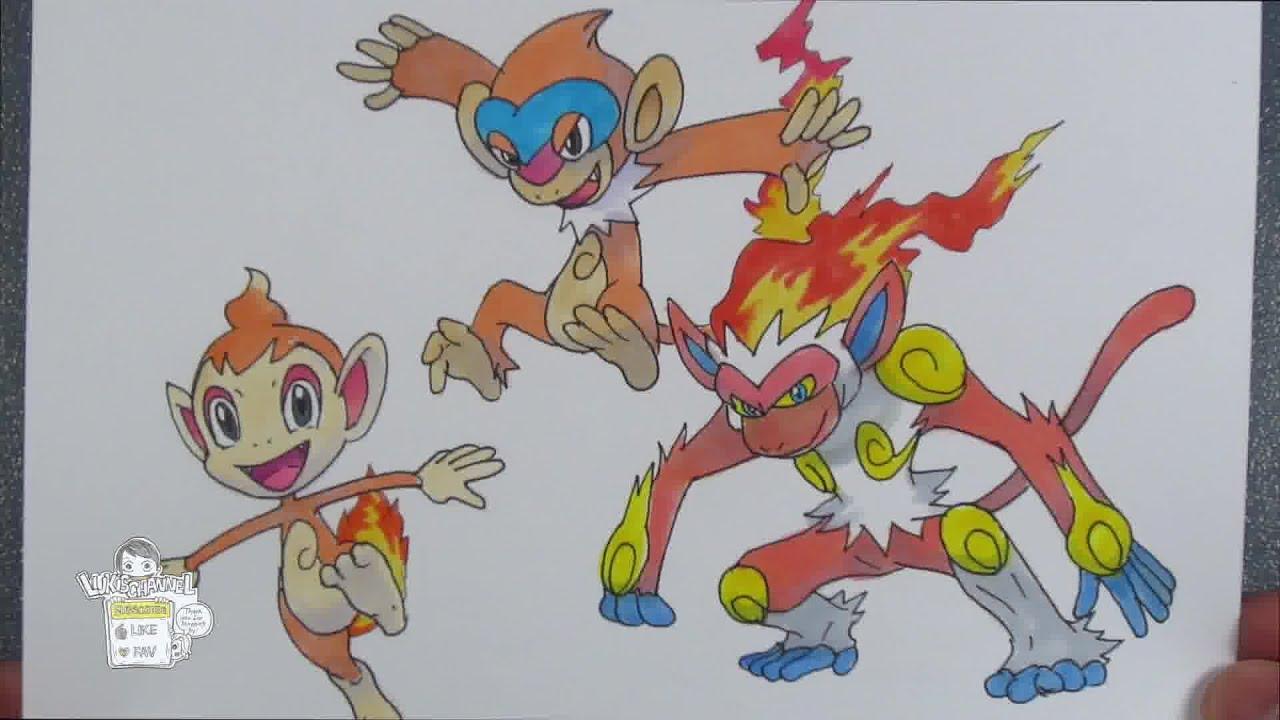 Infernape pokemon drawing