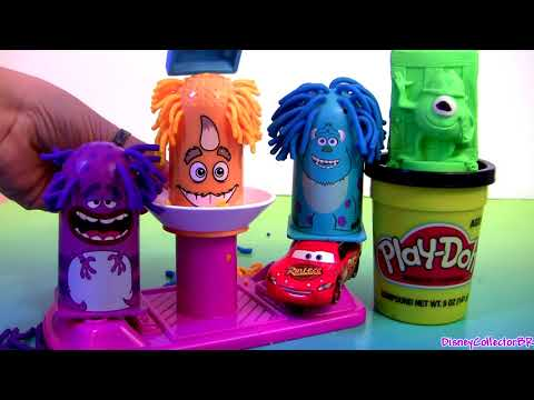 Play Doh Mold a Monster Playset Disney Monsters Inc Scare Chair Pixar Disneyplaydoh