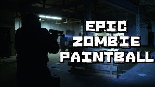 Paintball Ultimate Zombie Big Game in Abandoned Warehouse
