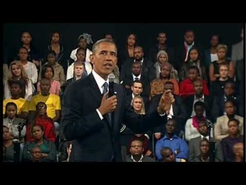 President Obama in South Africa talks about the Generation's Challenge - Unravel Travel TV