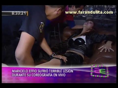 AE 19-09-2011 Maricielo Effio sufrio terrible lesion