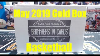 Brothers In Cards Basketball Gold Box Pack Plus Program May 2019 ** Rookie Patch Auto! **