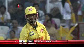 CCL 5 Semi Final 1 Chennai Rhinos Vs Karnataka Bulldozers 2nd Innings Part 1/4