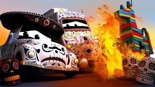 💀 PINATA bị cháy trong LỄ HỘI CỦA NGƯỜI CHẾT! - xe lửa Troy 🚉 những bộ phim hoạt hình về xe tải