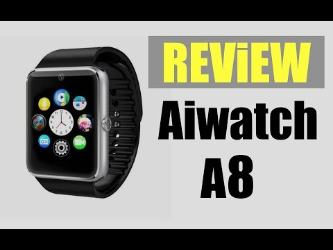 Aiwatch A8 Smartwatch Phone |  Sim Card Calls,Micro SD Card,Camera,File, Apple watch on a Budget?