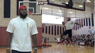 LEBRON JAMES. Just an 8th Grade Kid From Akron. Warm-Up Dunks Before Bronny's Game!